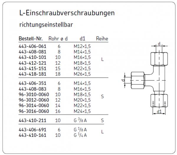 L-EINSCHRAUBVERSCHRAUBUNGEN 443-406-061