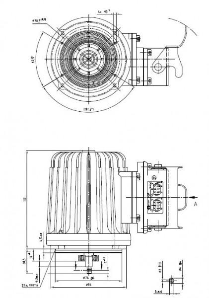 DREHSTROMMOTOR DU56N2075-53+MGP
