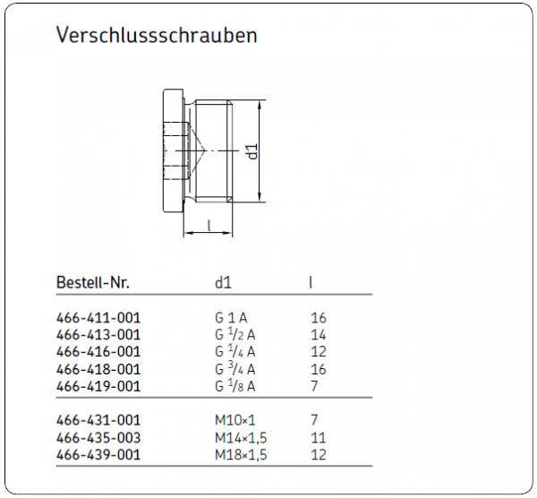 VERSCHLUSSSCHRAUBE 466-431-001