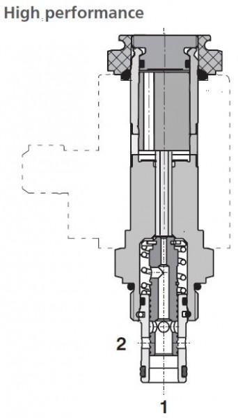 2/2 WEGEVENTIL SD2E-A2/H2I12M5