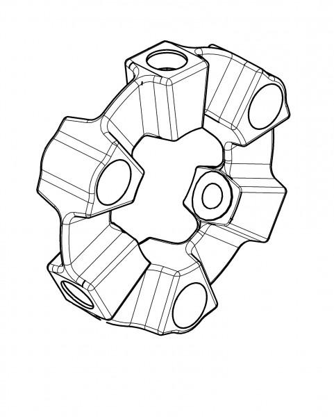CENTA-ELASTIKELEMENT /CF-X-4-0