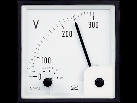 VOLTMETER EQ96-x, 0-300 VAC