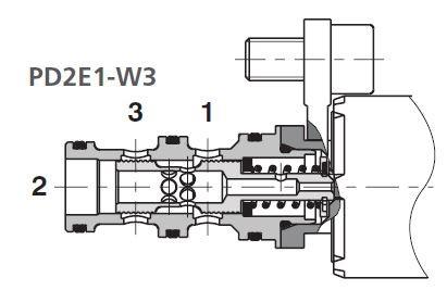 3/2 WEGEVENTIL PD2E1-W3/2D21-24E4