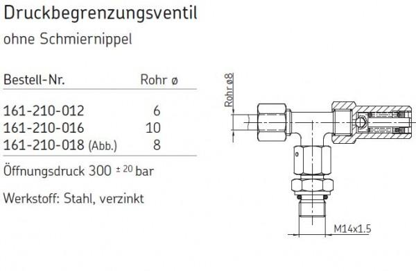 DRUCKBEGRENZUNGSVENTIL 161-210-012