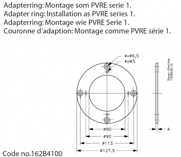 Adapterring PVRE SERIE1->2 / 162B4100