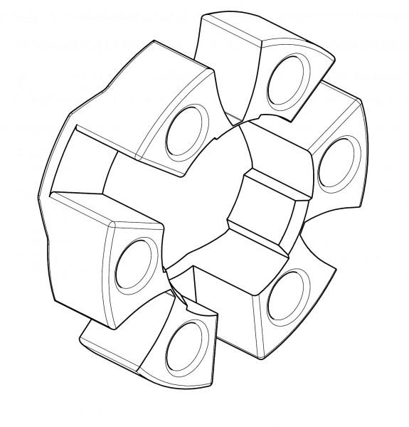 CENTA-ELASTIKELEMENT / CF-H-140-R