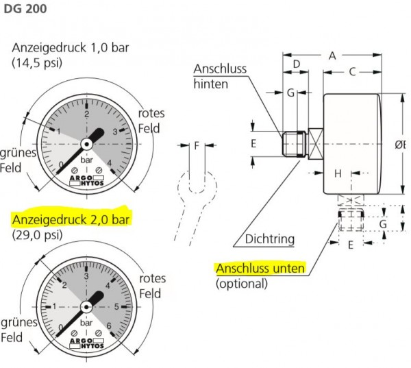 MANOMETER DG 200-10