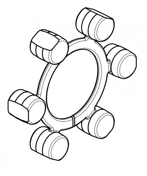 CENTA-ELASTIKELEMENT / CF-B-H-120-R